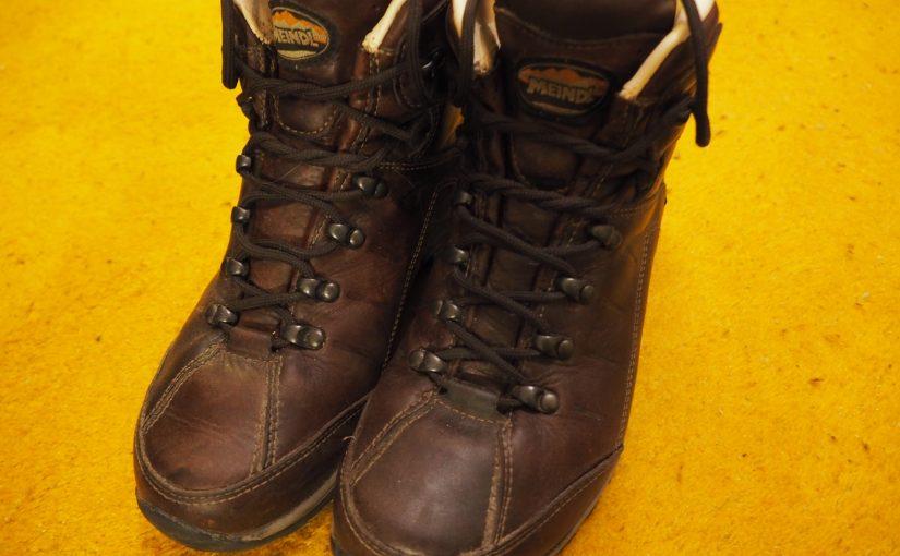 Schuhe auf Weitwanderwegen