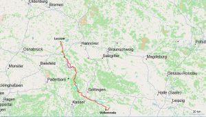 Karte Pilgerweg Loccum Volkenroda